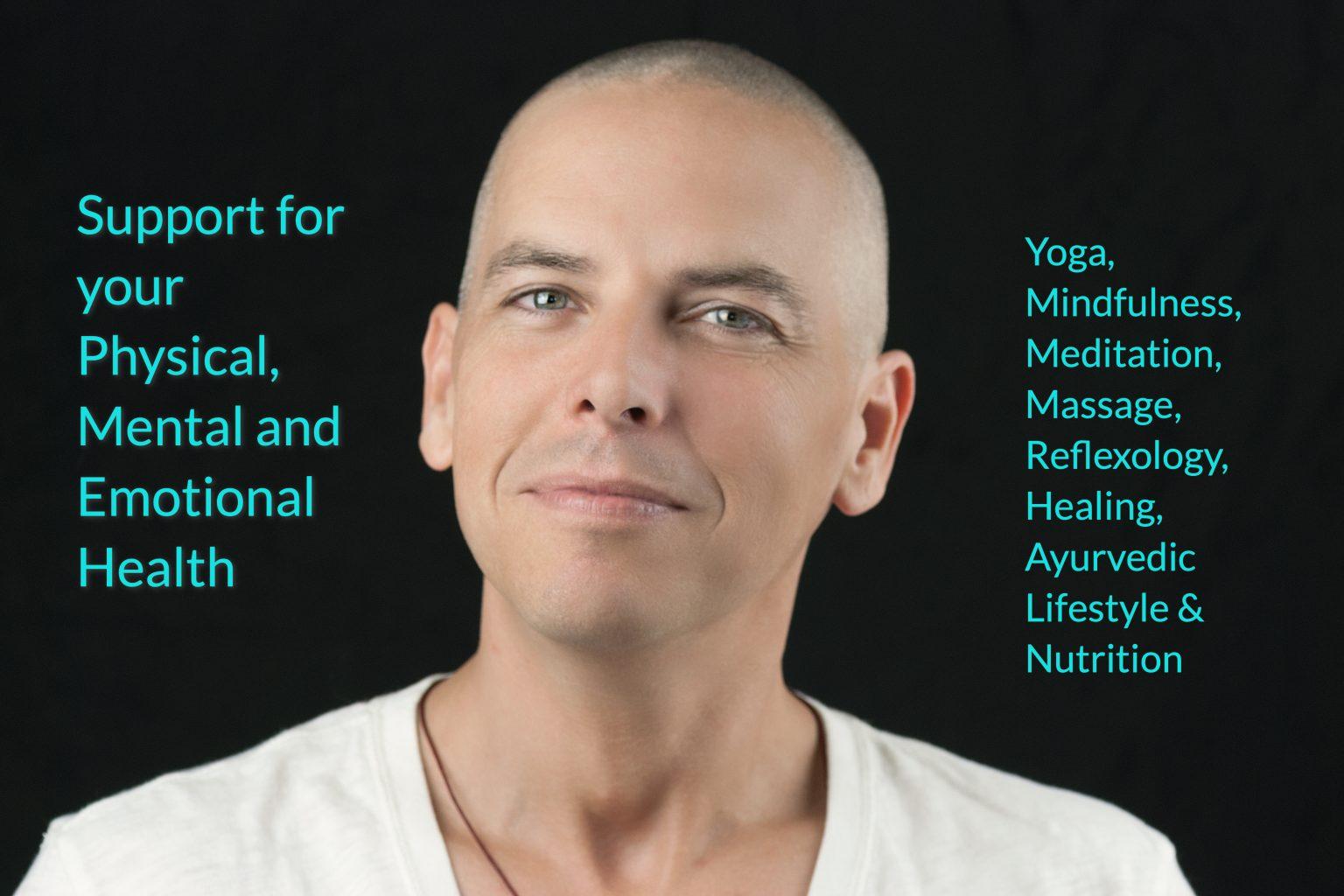 Yoga cancer smiling man header